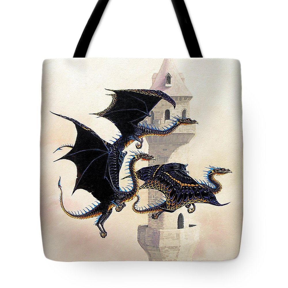 Dragon Tote Bag featuring the painting Morning Flight by Stanley Morrison