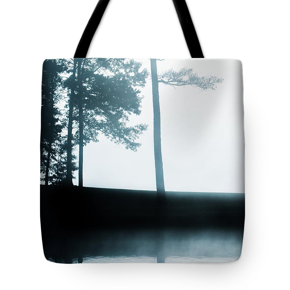 Tote Bag featuring the photograph Morning Fog by Parker Cunningham