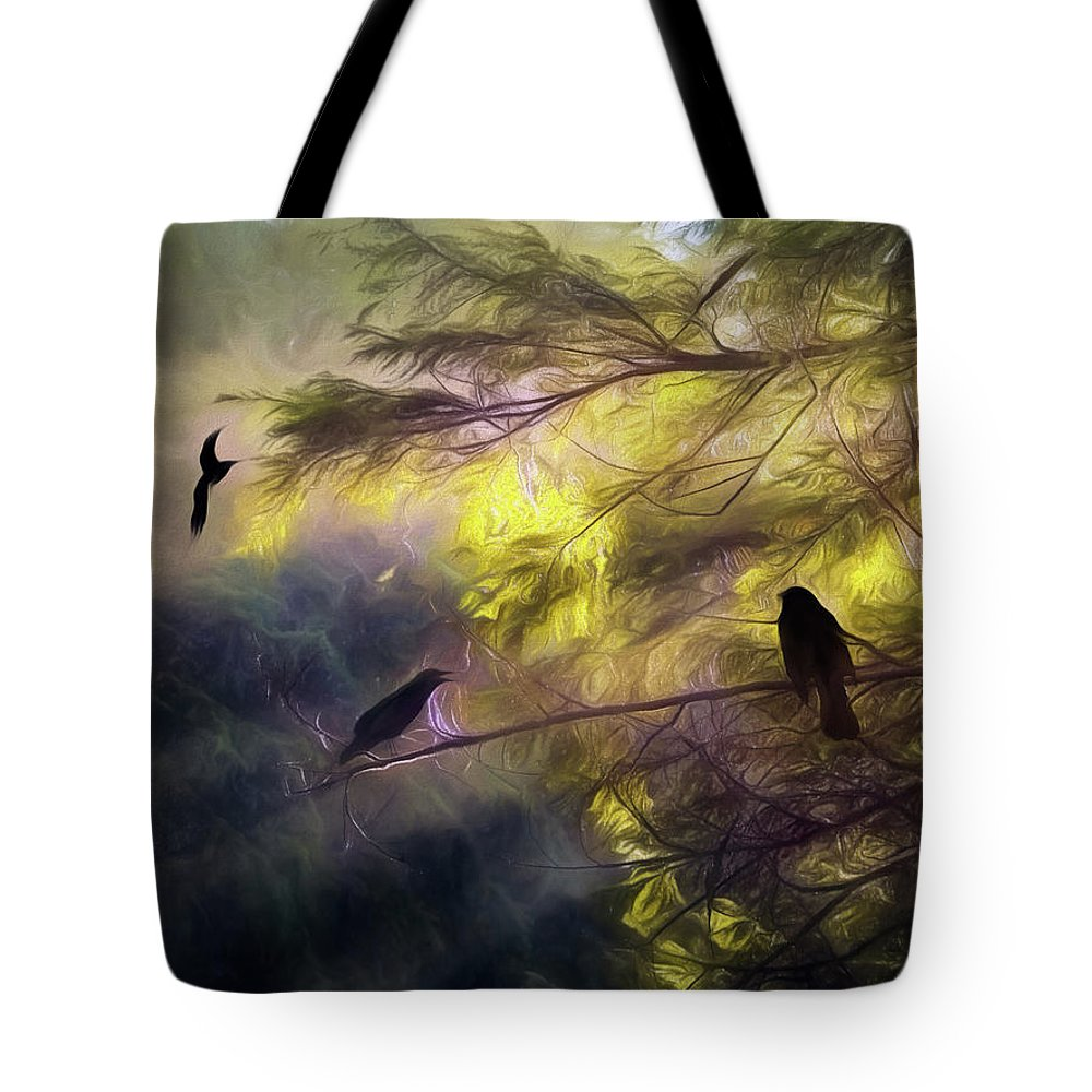 Forest Tote Bag featuring the photograph Morning Forest Light by Diane Schuster