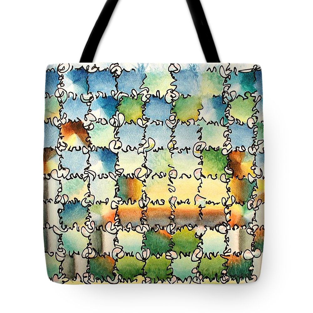 Watercolor Tote Bag featuring the painting Morning Gateway by Dave Martsolf