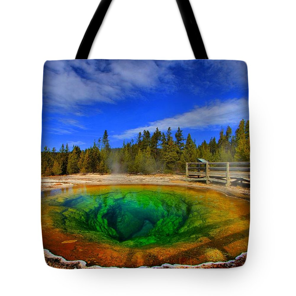 Monring Glory Pool Tote Bag featuring the photograph Morning Glory by Adam Jewell