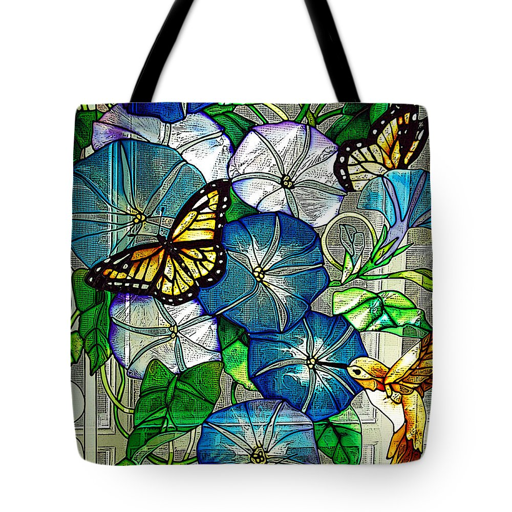 Berry Tote Bag featuring the photograph Morning Glory by Diane E Berry
