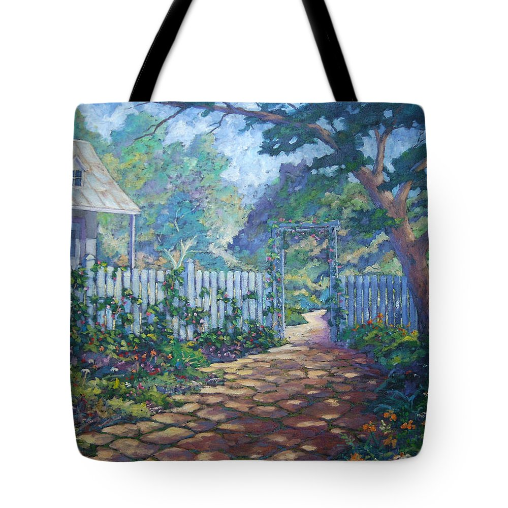 Painter Art Tote Bag featuring the painting Morning Glory by Richard T Pranke
