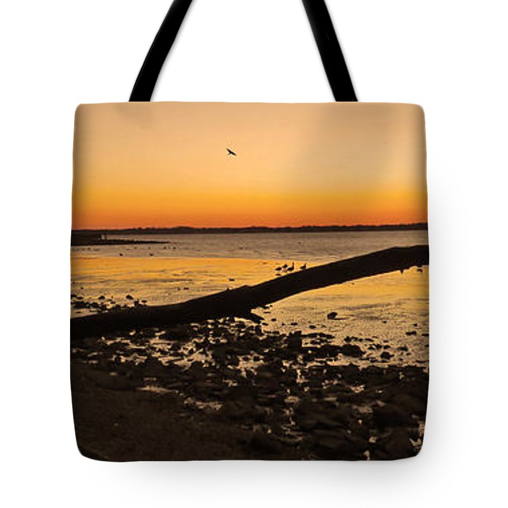New Castle Tote Bag featuring the photograph Morning Glow #2 by Bruce Burk