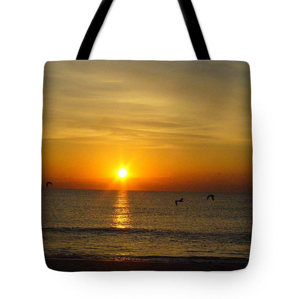 Ocean Tote Bag featuring the photograph Morning Has Broken by Peggy King