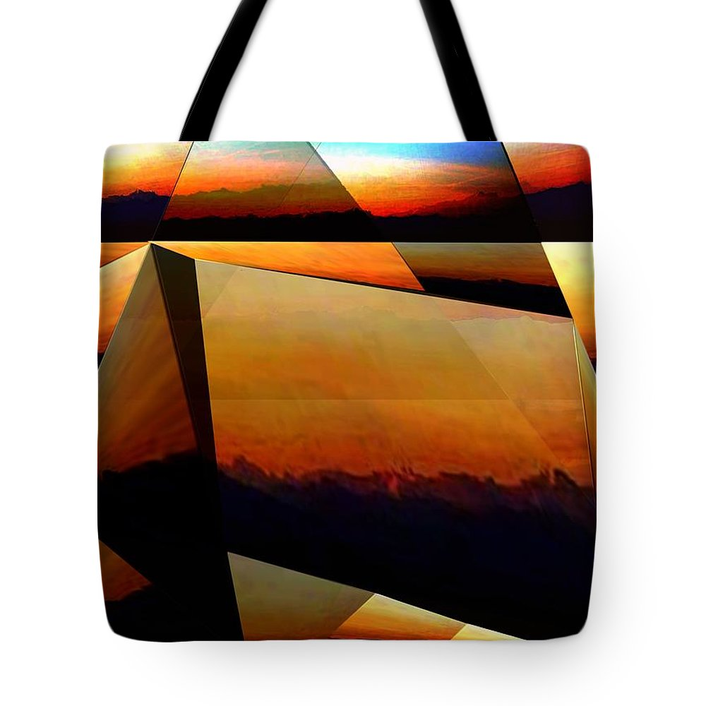 Alpen Tote Bag featuring the mixed media Morning In The Alps by Helmut Rottler