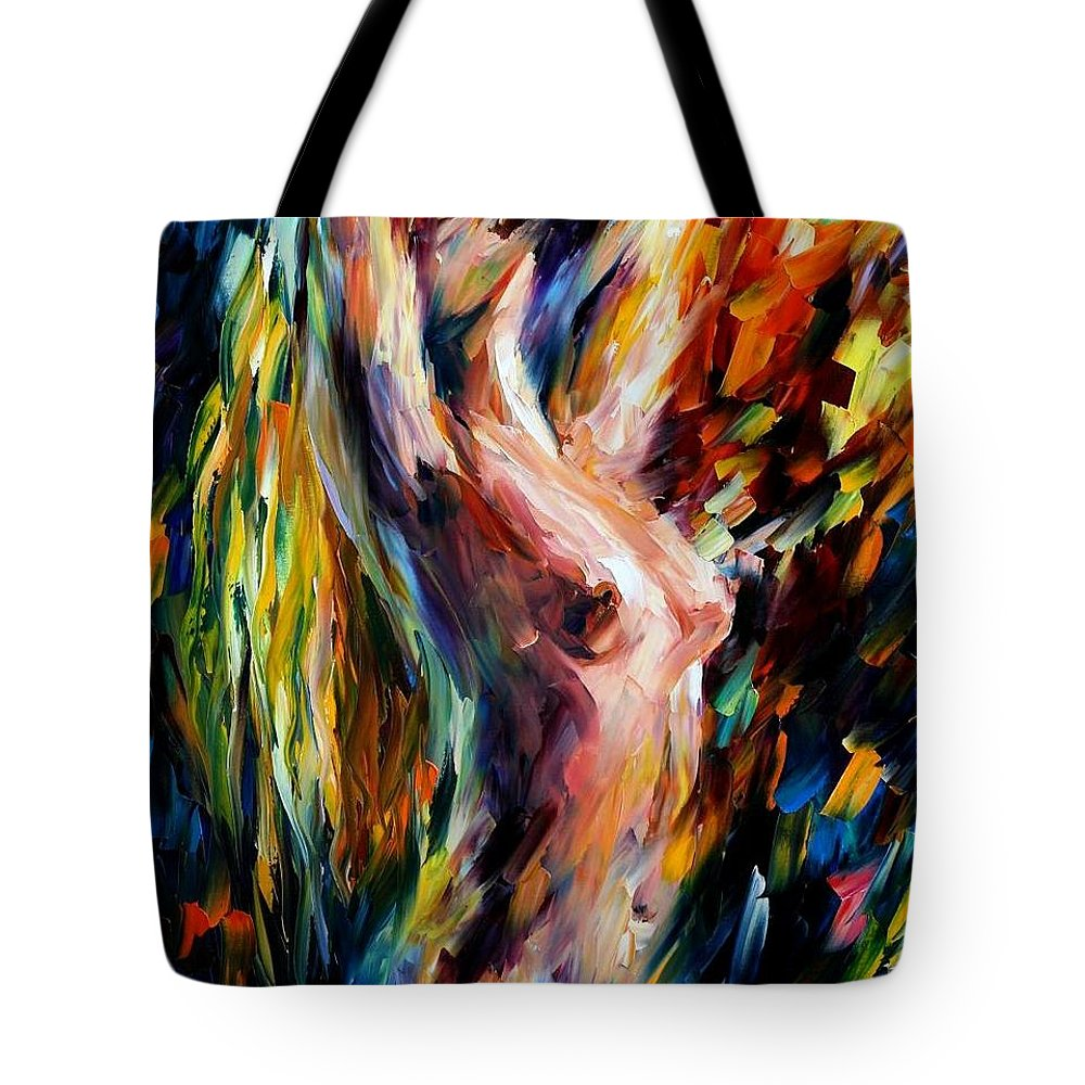 Nude Tote Bag featuring the painting Morning by Leonid Afremov