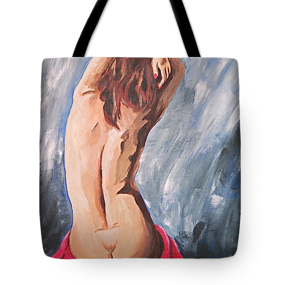 Nude Tote Bag featuring the painting Morning Light 2 by Herschel Fall