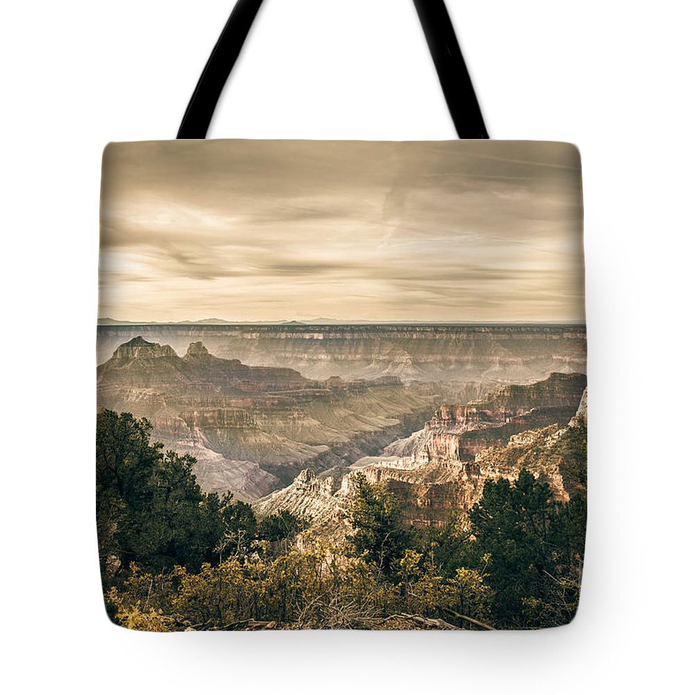 North Rim Tote Bag featuring the photograph Morning Light At North Rim by Robert Bales
