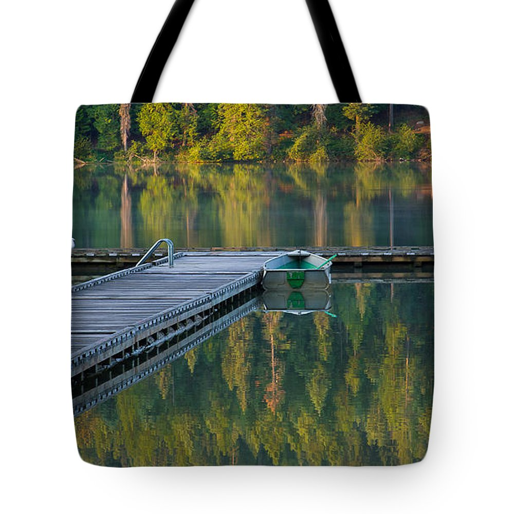 Dock Tote Bag featuring the photograph Morning Light by Idaho Scenic Images Linda Lantzy