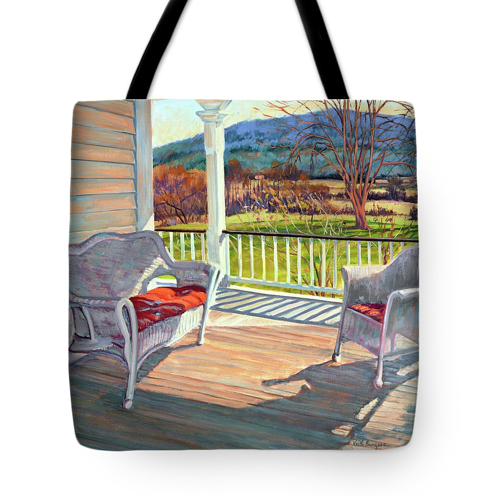 Impressionism Tote Bag featuring the painting Morning Light by Keith Burgess