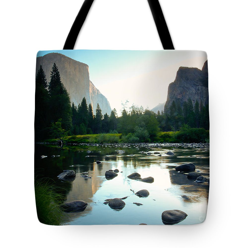 California Tote Bag featuring the photograph Morning Light On El Capitan by Idaho Scenic Images Linda Lantzy