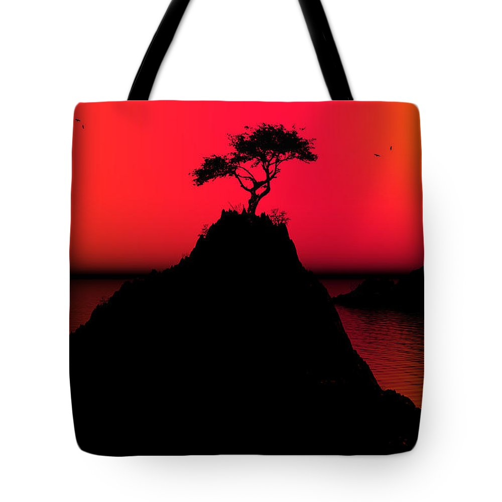 Sunrise Tote Bag featuring the digital art Morning Light by Robert Orinski
