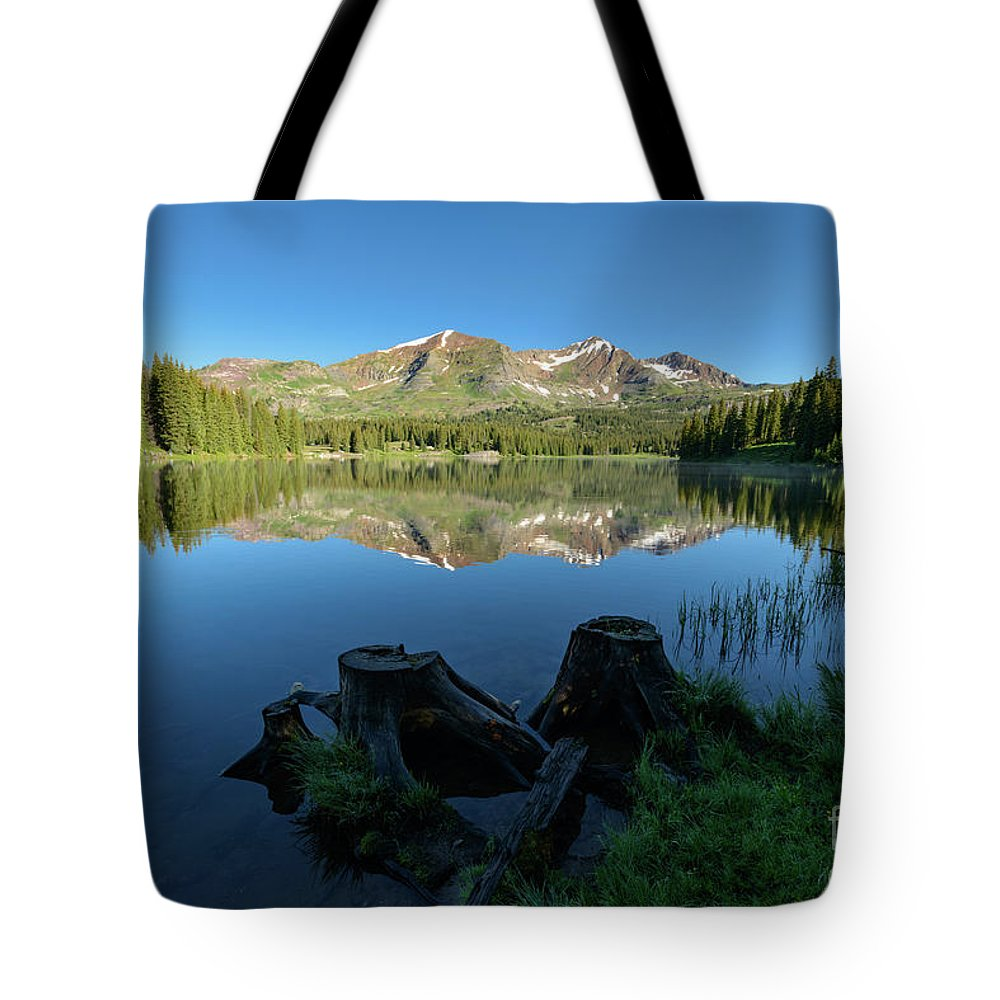 Lake Tote Bag featuring the photograph Morning Meditation - Lake Irwin by Dusty Demerson