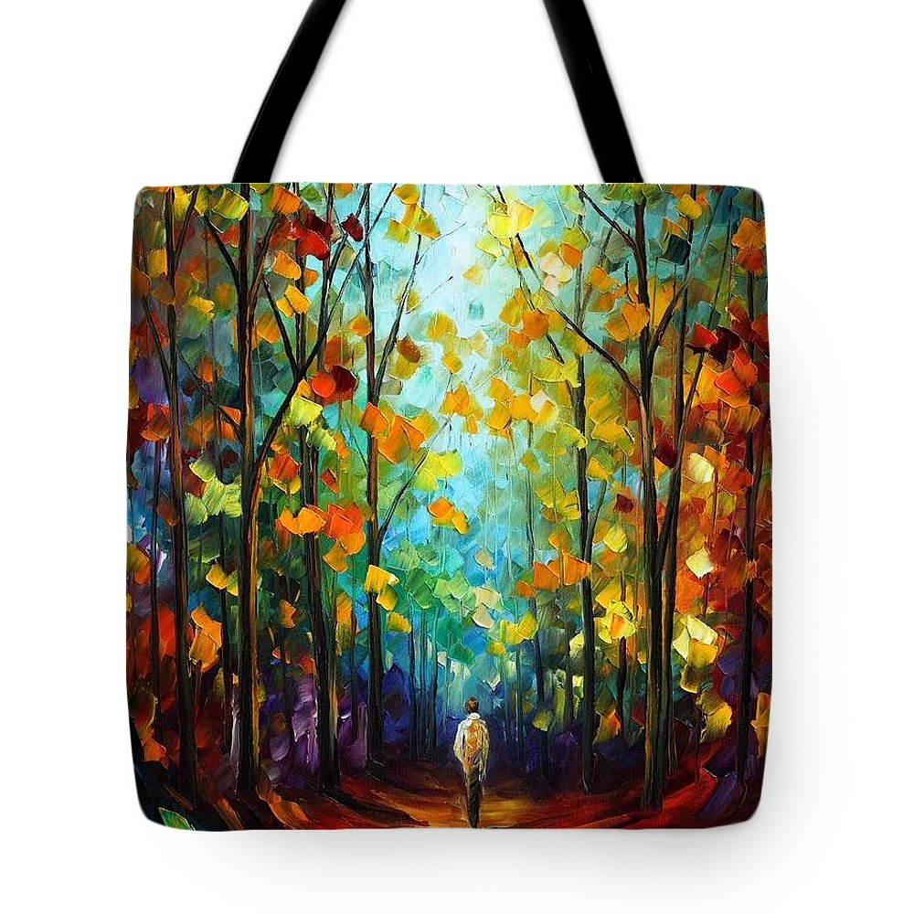 Afremov Tote Bag featuring the painting Morning Mood by Leonid Afremov