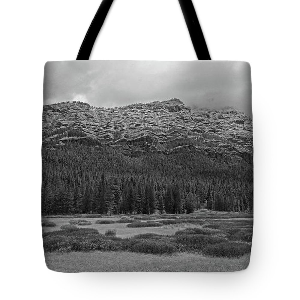 Mountain Tote Bag featuring the photograph Morning Mountains In Yellowstone by Vincent Wille