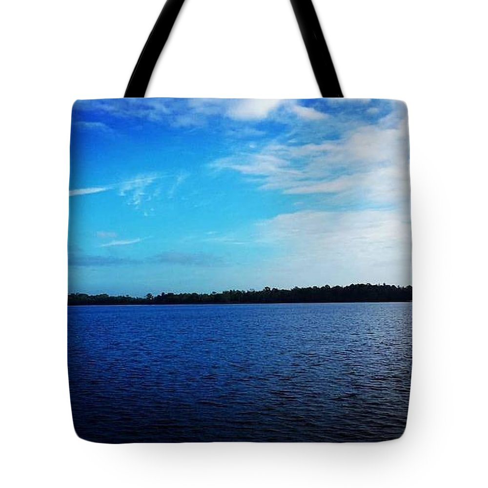 Lake Tote Bag featuring the photograph Morning On Bass Lake by Katerina Ruh
