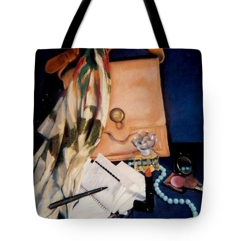 Blue Tote Bag featuring the pastel Morning Rush by Constance Drescher