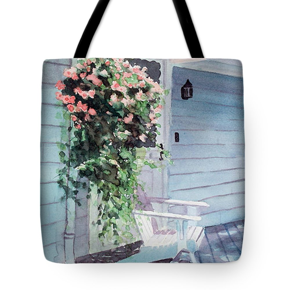 Flowers Watercolor Tote Bag featuring the painting Morning Shadows by Laura Lee Zanghetti