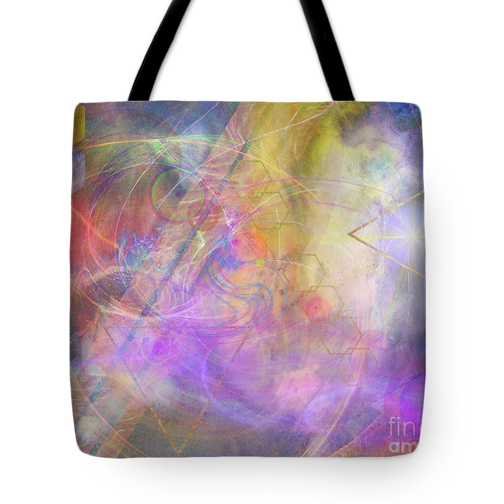Morning Star Tote Bag featuring the digital art Morning Star by John Beck