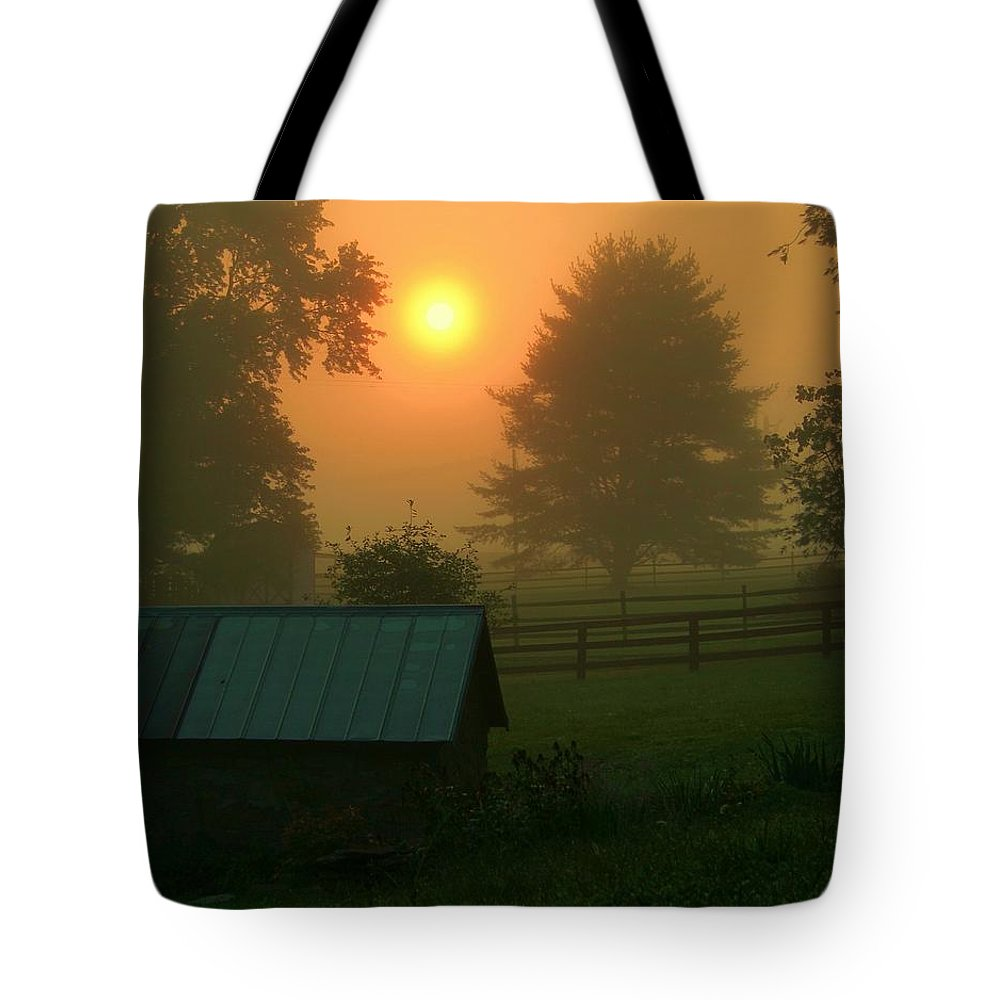 Landscape Tote Bag featuring the photograph Morning Star by Mitch Cat