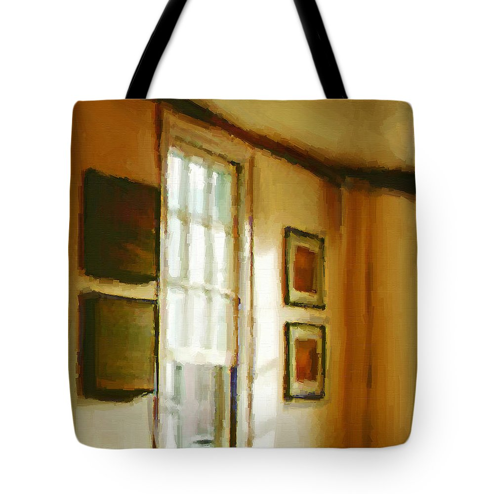 France Tote Bag featuring the painting Morning Sun - Paris by RC DeWinter