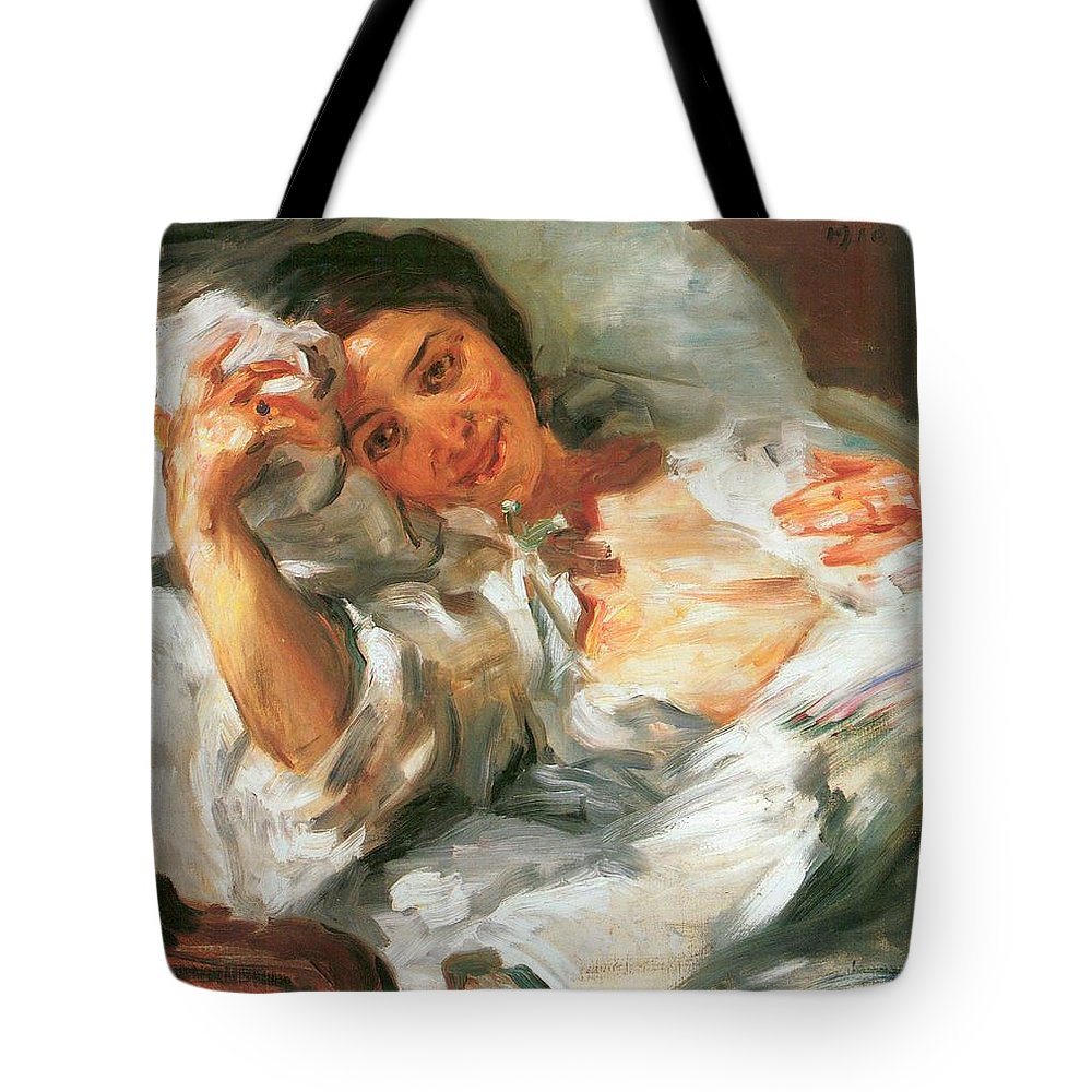 Painting Tote Bag featuring the painting Morning Sunshine by Mountain Dreams