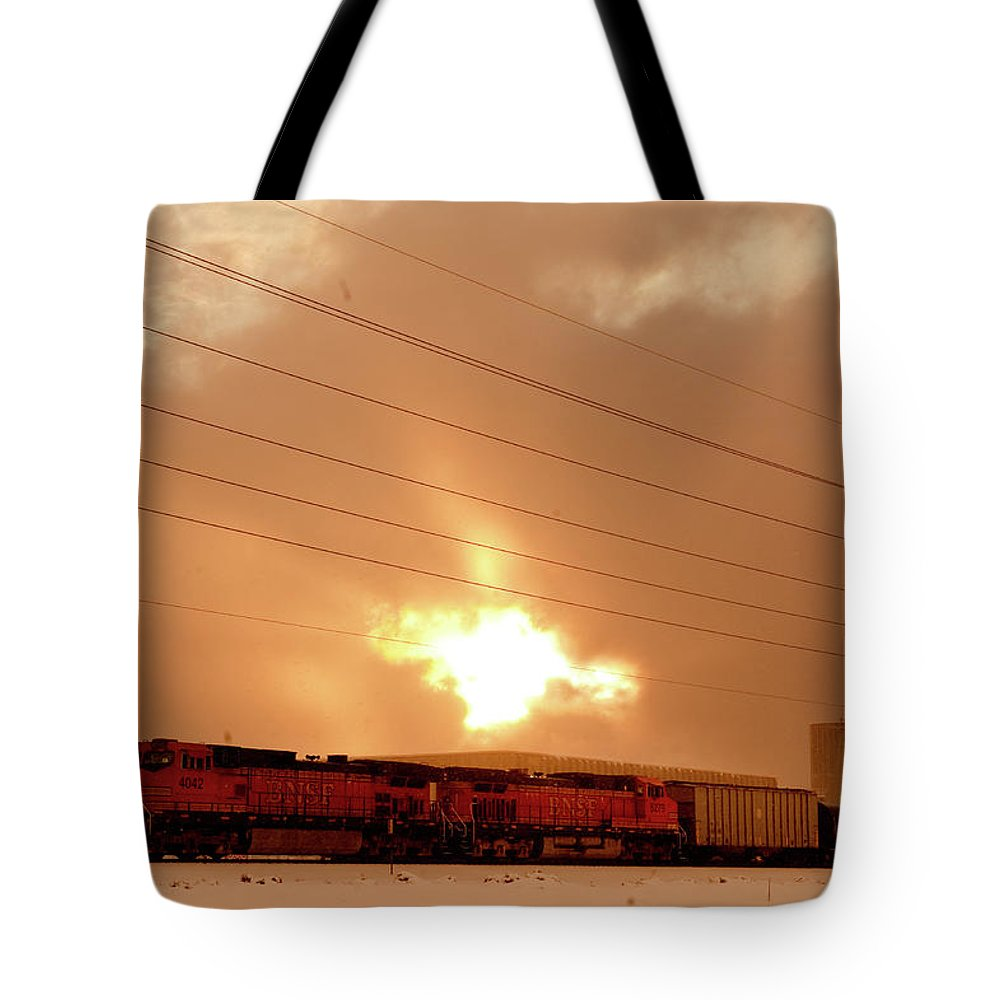 Seshat Tote Bag featuring the photograph Morning Train 2 by Scott Sawyer