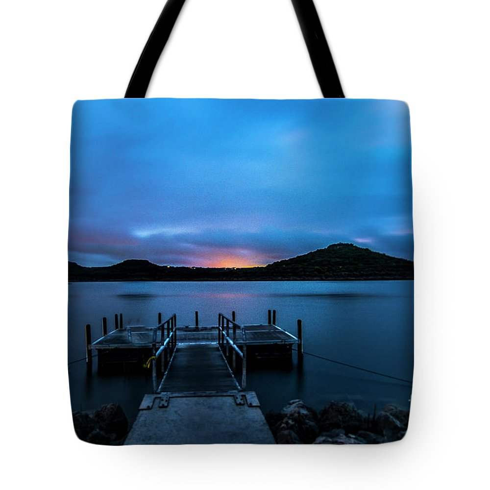 Morning Twilight Tote Bag featuring the photograph Morning Twilight by Bob Marquis