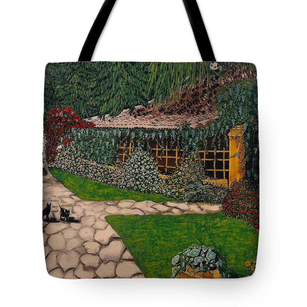 European Tote Bag featuring the painting Morning Walk by V Boge
