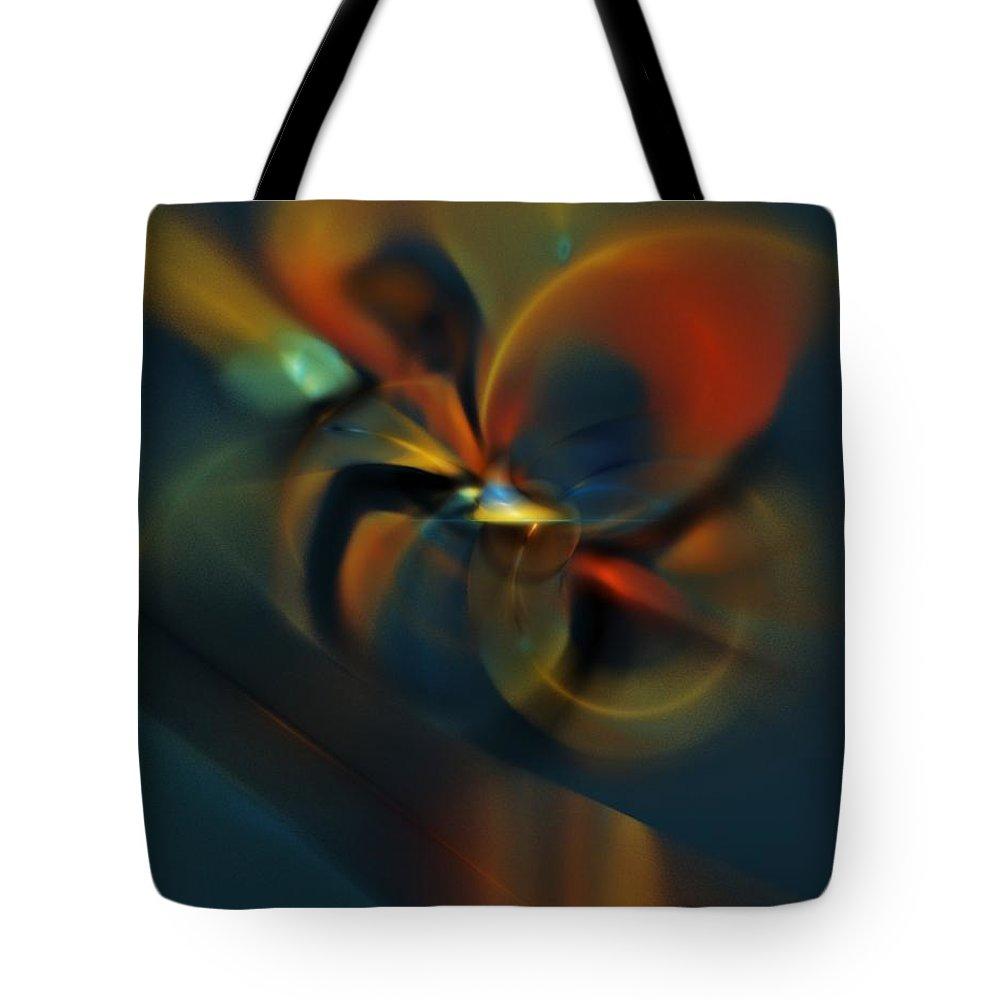 Digital Painting Tote Bag featuring the digital art Mornings Slippery Slope by David Lane