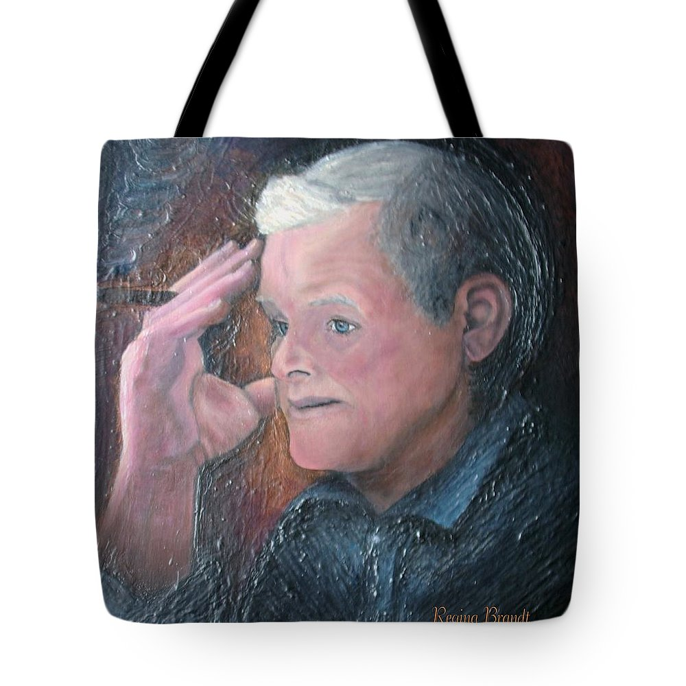 Portrait Tote Bag featuring the painting Morris by Regina Brandt