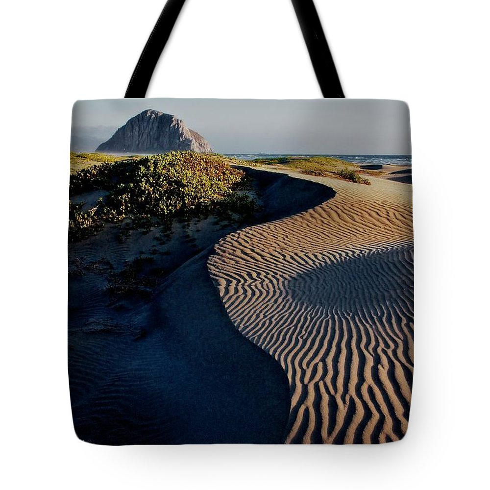 Nature Tote Bag featuring the photograph Morro Strand State Beach, California by Zayne Diamond Photographic