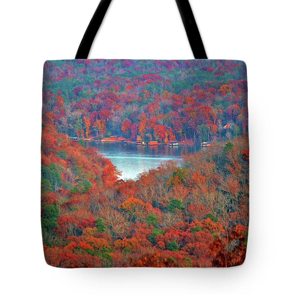 Spectacular Tote Bag featuring the photograph Morrow Mountain Overlook by Cynthia Guinn