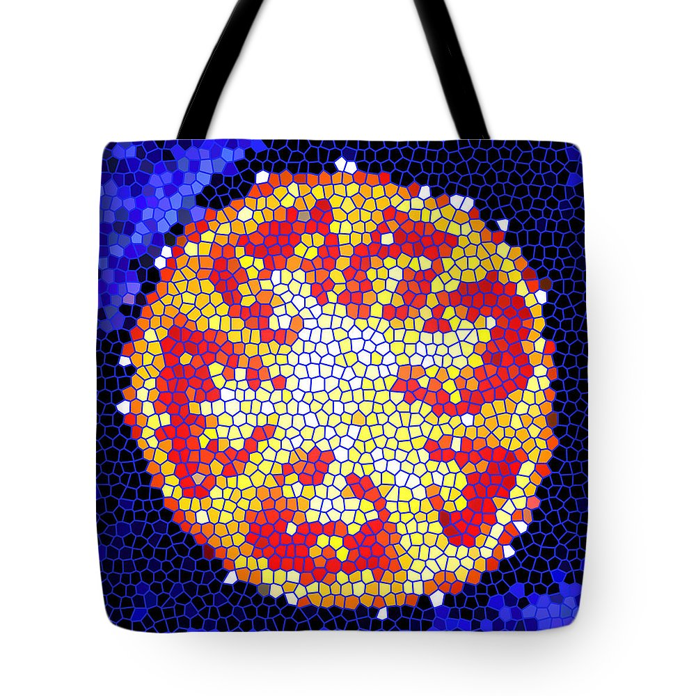 Tomato Tote Bag featuring the photograph Mosaic Tomato by Nancy Mueller