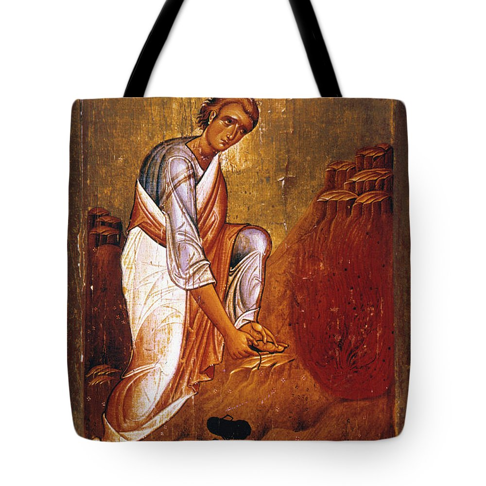 12th Century Tote Bag featuring the photograph Moses Before Burning Bush by Granger