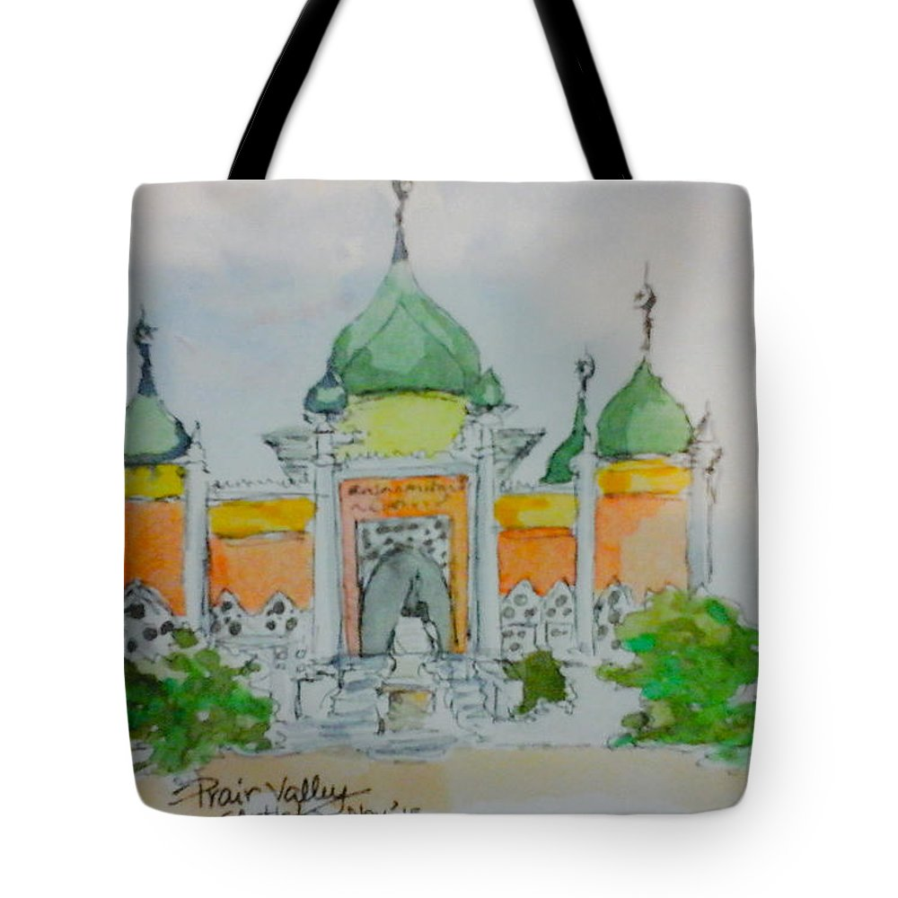 Mosque Tote Bag featuring the painting Mosque by Prair Valley