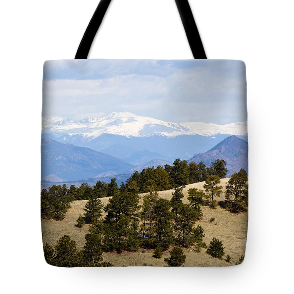 Mosquito Range Mountains Tote Bag featuring the photograph Mosquito Range Mountains From Bald Mountain Colorado by Steve Krull