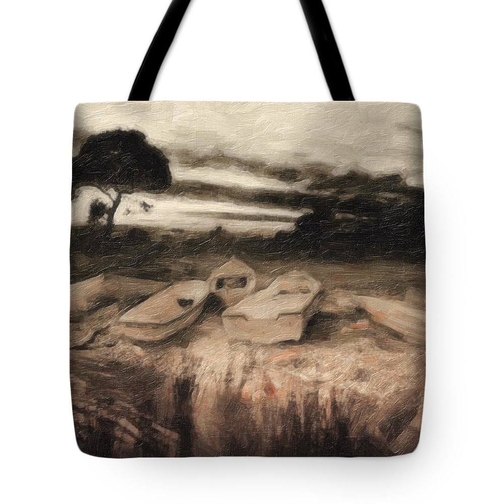 Oil Painting Tote Bag featuring the painting Moss by Zapista