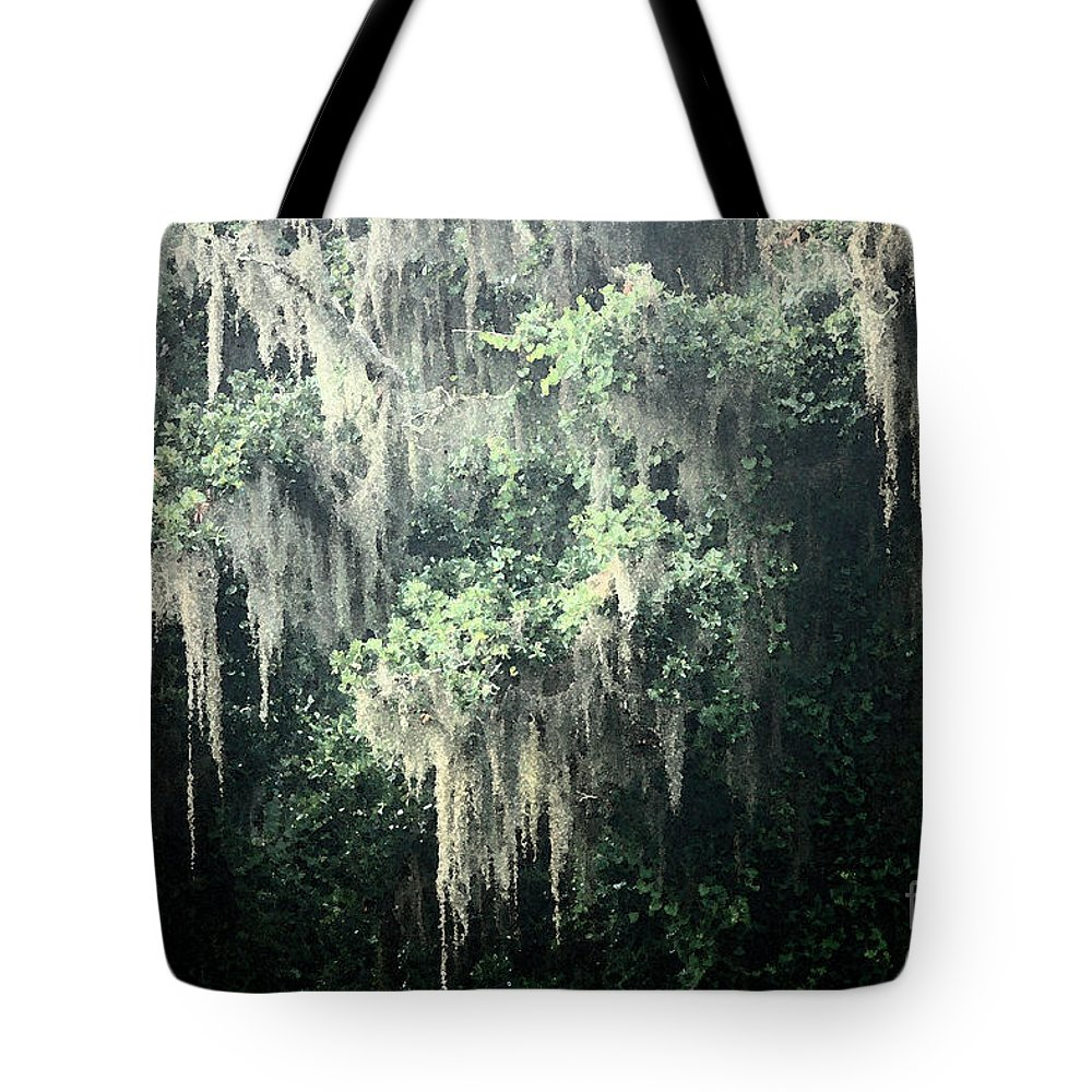 Nature Abstract Tote Bag featuring the photograph Mossy Dream by Carol Groenen