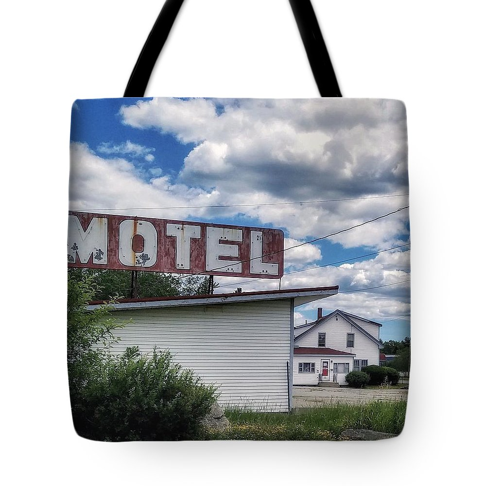 Motel Tote Bag featuring the photograph Motel by Mary Capriole