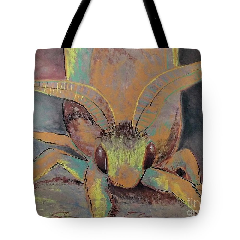 Moth Tote Bag featuring the drawing Moth Of Little Green by Brianna Reynolds