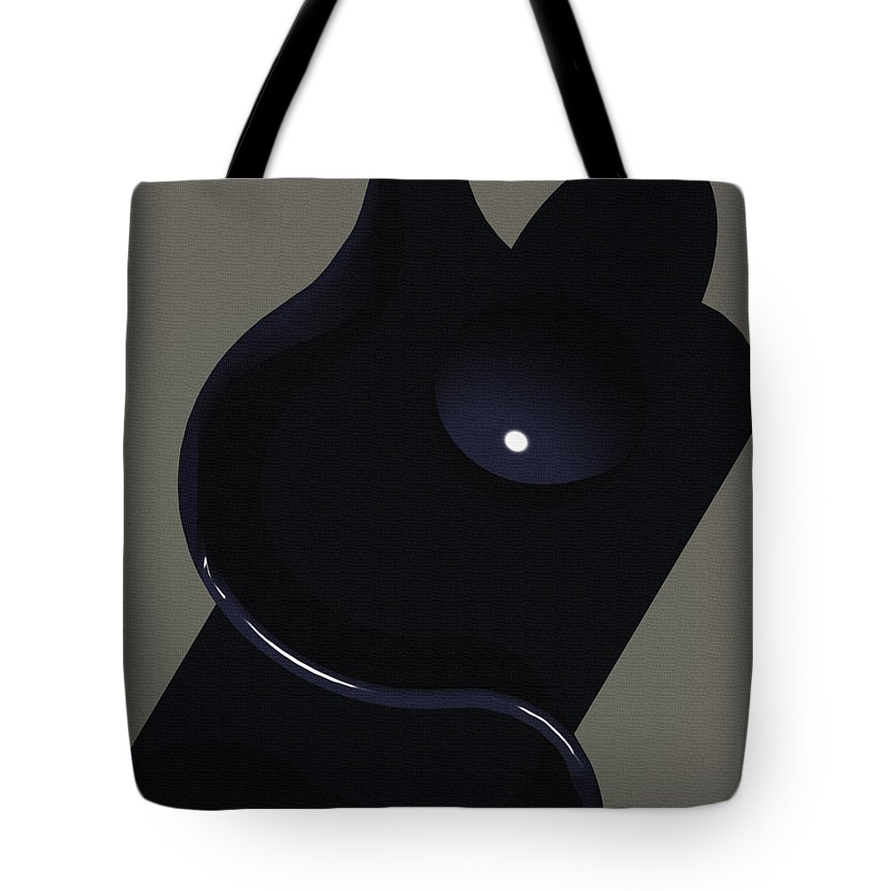 Abstract Tote Bag featuring the digital art Mother And Child by Richard Rizzo