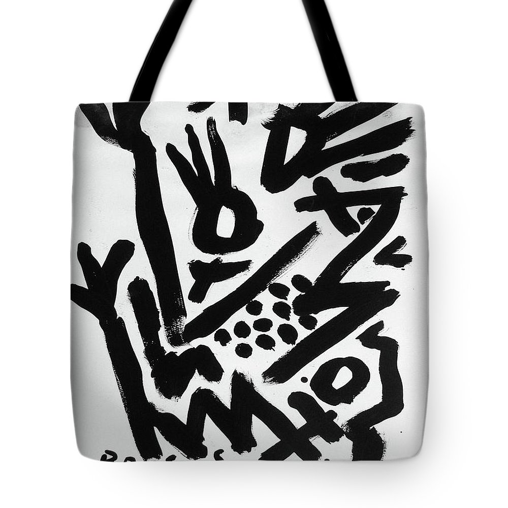 Rocco Satoshi Tote Bag featuring the painting Mother And Child Reunion by Rocco Satoshi