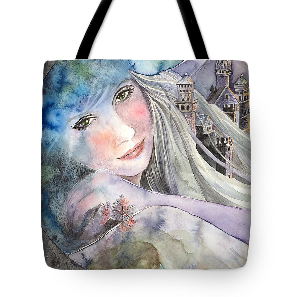Watercolor Tote Bag featuring the painting Mother Earth by Kim Sutherland Whitton