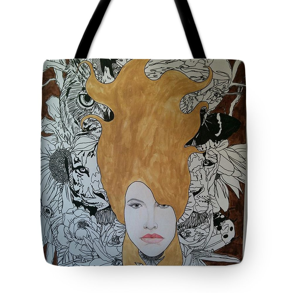 Tote Bag featuring the mixed media Mother Earth by Rafael Colon