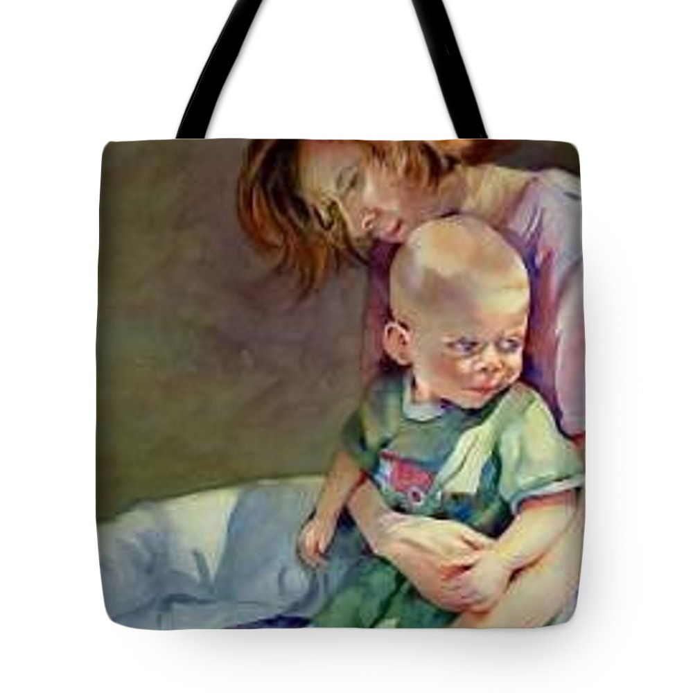Mother And Child Tote Bag featuring the painting Mother Love by Marlene Gremillion