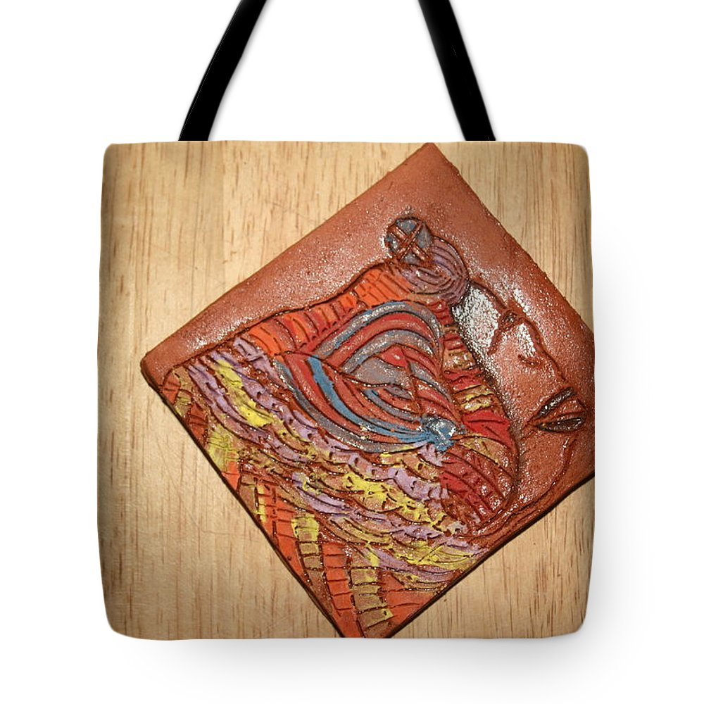 Jesus Tote Bag featuring the ceramic art Mother Mary - Tile by Gloria Ssali