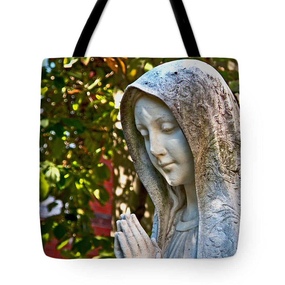 Mother Mary Tote Bag featuring the photograph Mother Mary by Donna Shahan