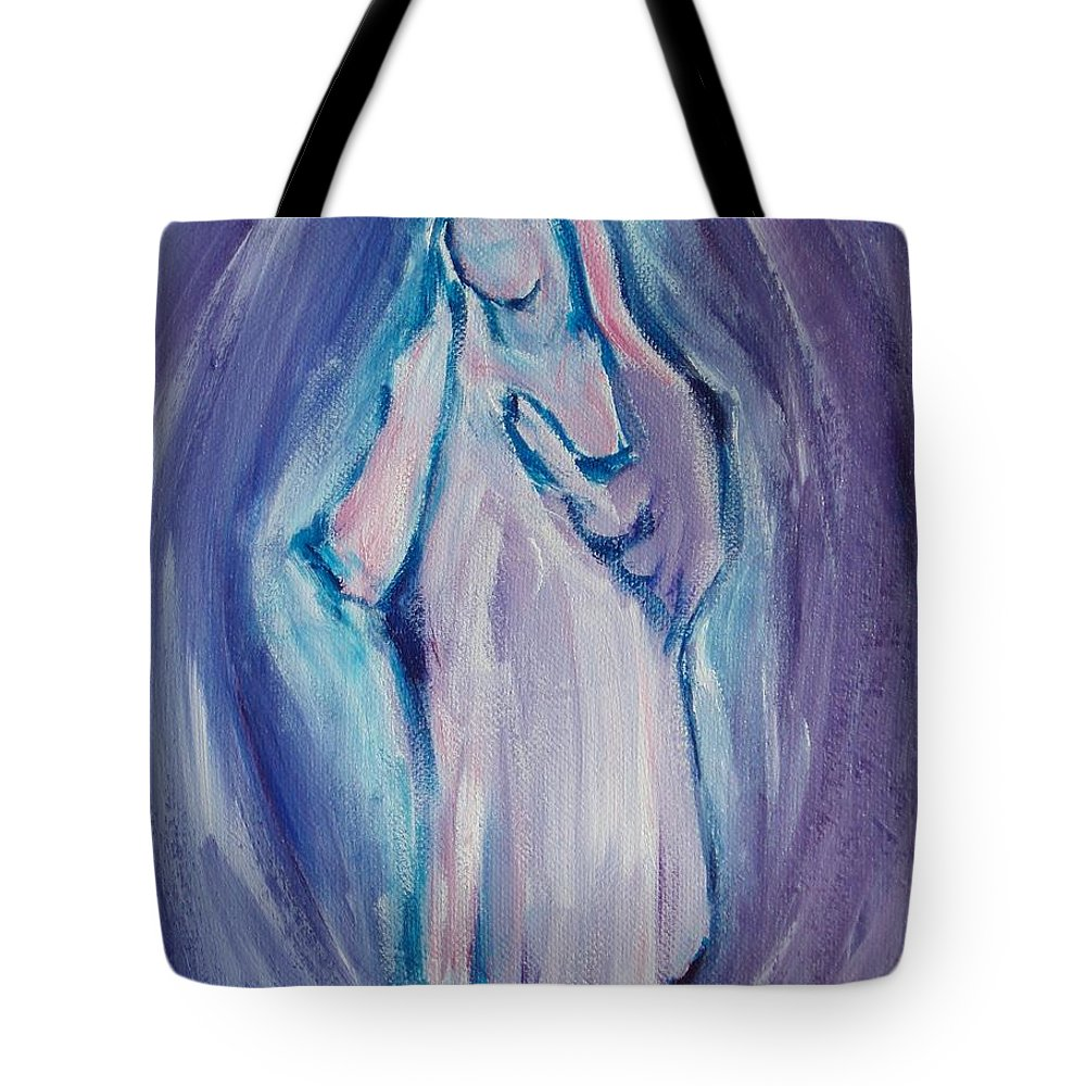 Mother Mary Tote Bag featuring the painting Mother Mary Essence by Tara Moorman